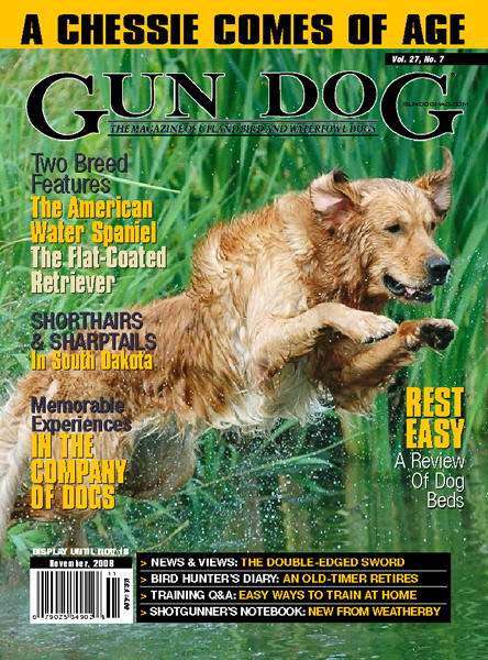 Ryder appears on the cover of Gun Dog Magazine