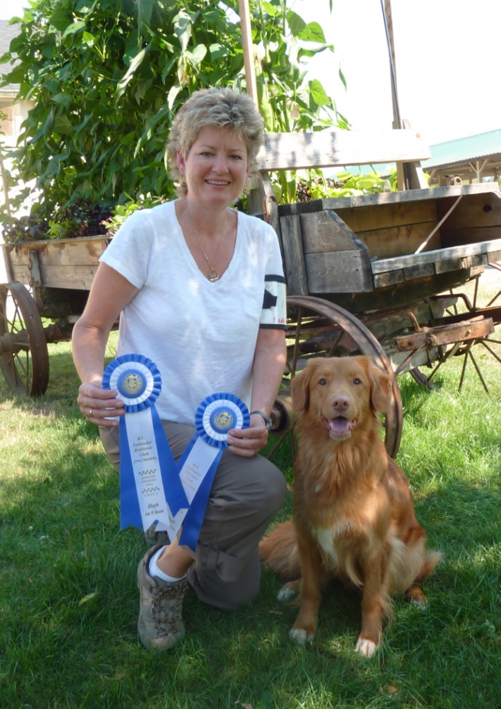 Linda with one of her Tollers