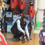 Bosleys - walking around the store