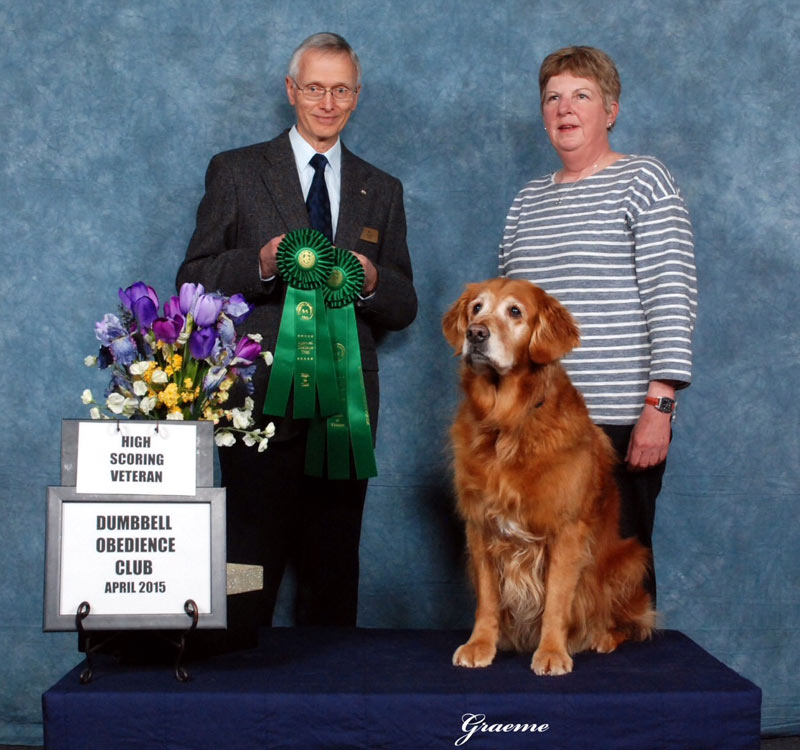 Lynne Dowling with golden retriever Aimy