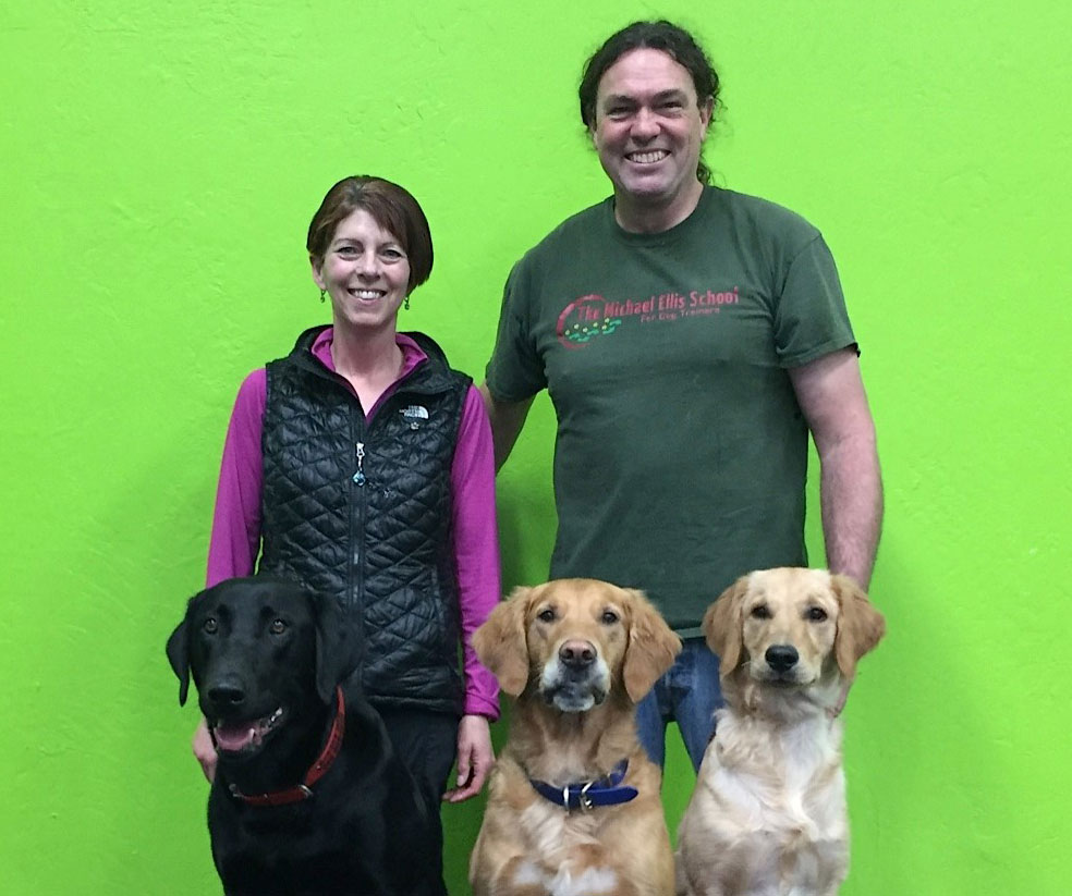 janice and dogs with michael Ellis