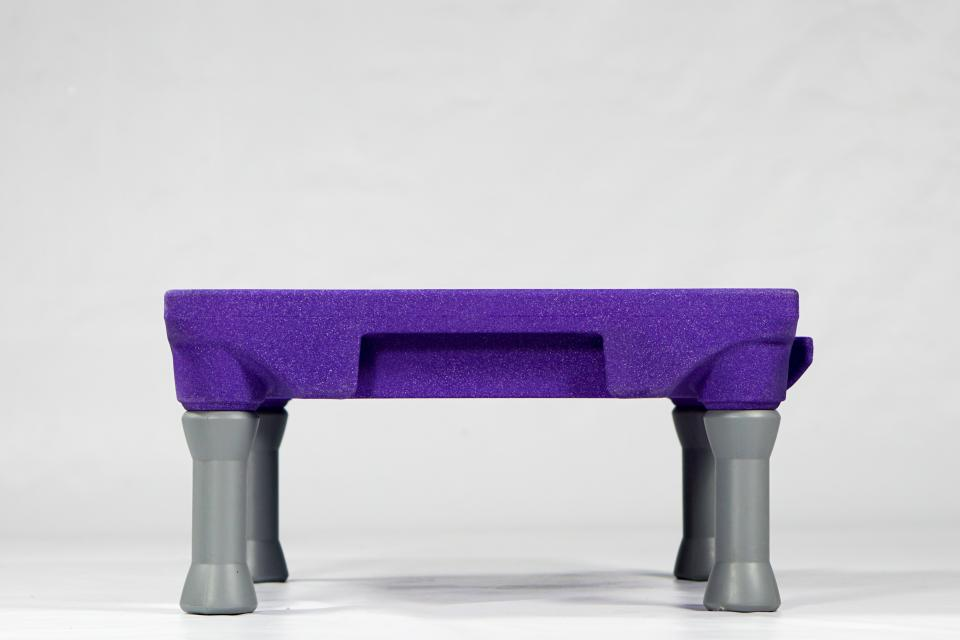 Klimb Platform in Purple (side view)