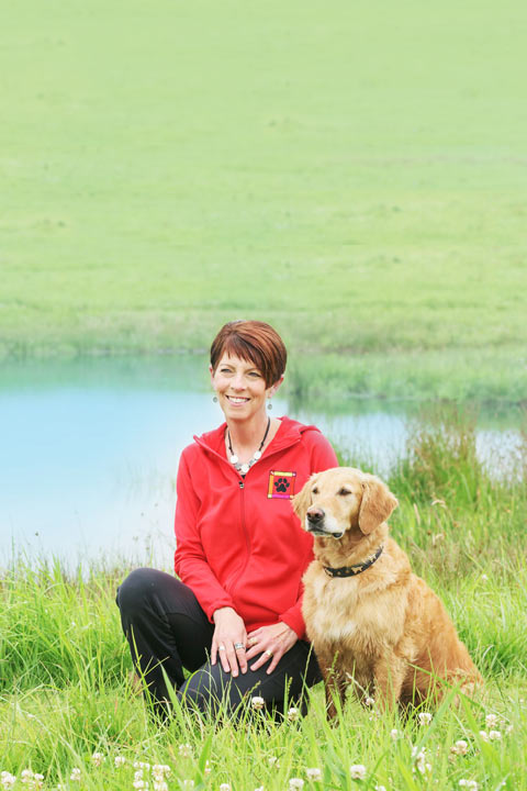 Janice Gunn with OTCH retriever Pounce