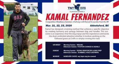Competition Obedience Seminar with Kamal Fernandez