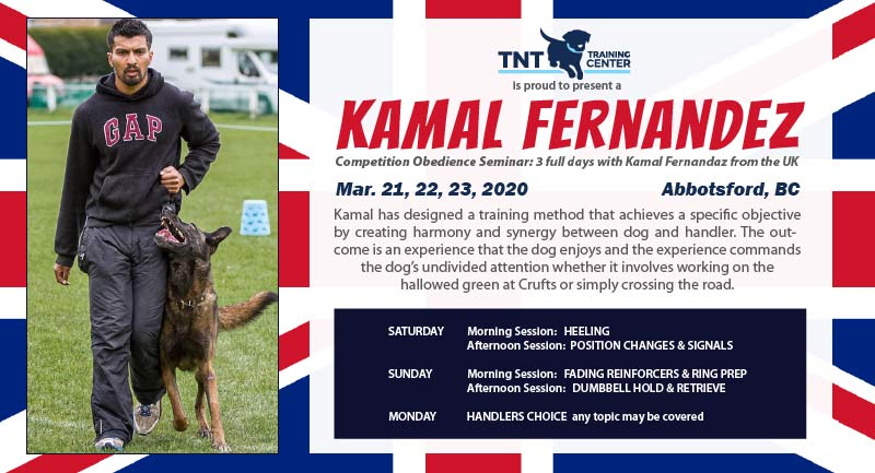 Kamal Fernadez – Competition Obedience Seminar Mar. 21, 22, 23, 2020