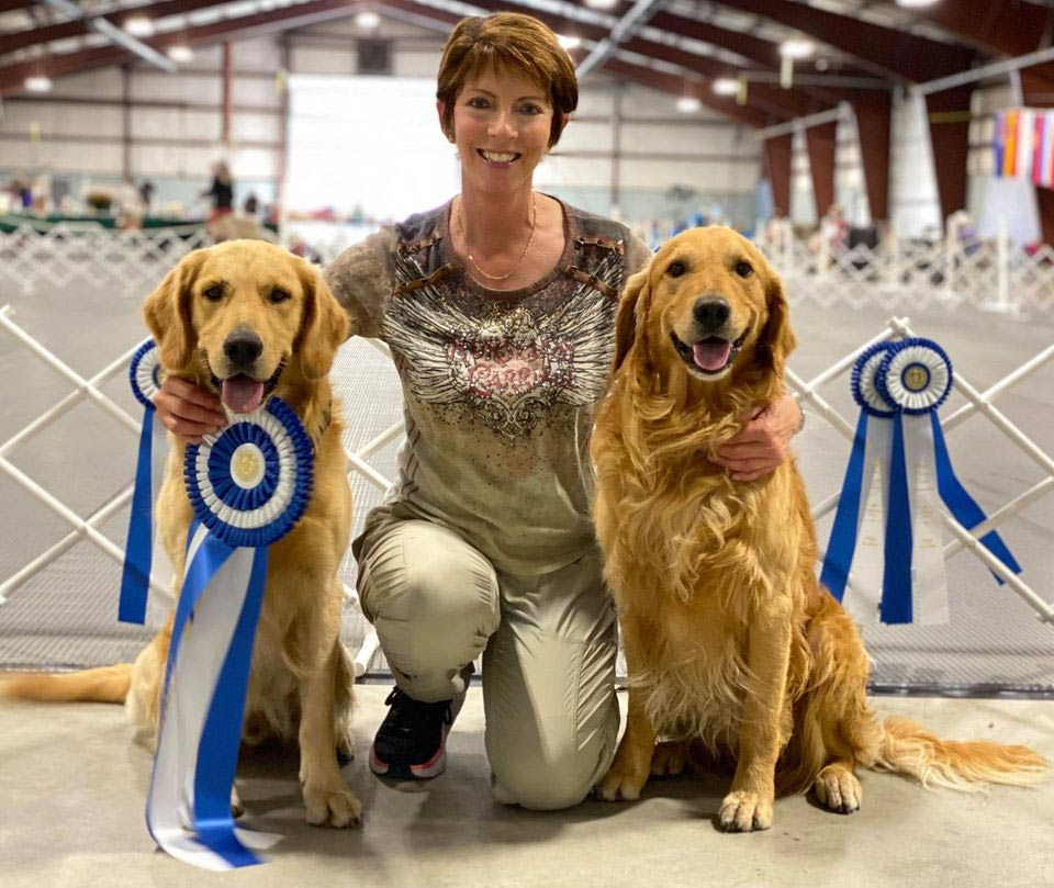 Seven and Sparks both score 199 at obedience trial